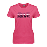 Ladies Fuchsia T Shirt-OLLU
