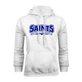 White Fleece Hoodie-Saints - Our lady of the Lake University