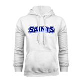 White Fleece Hoodie-Saints