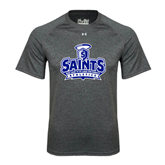 Under Armour Carbon Heather Tech Tee-Our Lady of the Lake University Athletics - Offical Logo