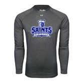 Under Armour Carbon Heather Long Sleeve Tech Tee-Our Lady of the Lake University Athletics - Offical Logo