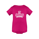 Fuchsia Infant Onesie-Our Lady of the Lake University Athletics - Offical Logo