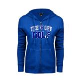 ENZA Ladies Royal Fleece Full Zip Hoodie-Tee Off Golf Design