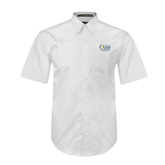 White Twill Button Down Short Sleeve-Rio Grande Valley