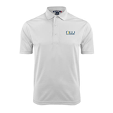 White Dry Mesh Polo-OLLU Our Lady of the Lake University Stacked