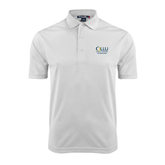 White Dry Mesh Polo-The Woodlands