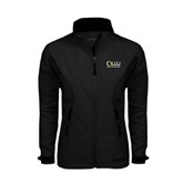 Ladies Black Softshell Jacket-OLLU Our Lady of the Lake University Stacked