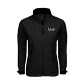 Ladies Black Softshell Jacket-OLLU Our Lady of the Lake University Stacked