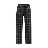 Black/Grey Flannel Pajama Pant-Our Lady of the Lake University Athletics - Offical Logo