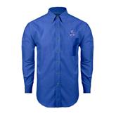 Mens Royal Oxford Long Sleeve Shirt-OLLU Saints