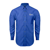 Mens Royal Oxford Long Sleeve Shirt-OLLU Our Lady of the Lake University Stacked