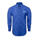 Mens Royal Oxford Long Sleeve Shirt-Rio Grande Valley
