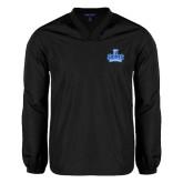 V Neck Black Raglan Windshirt-Our Lady of the Lake University Athletics - Offical Logo