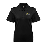 Ladies Easycare Black Pique Polo-OLLU Our Lady of the Lake University Stacked