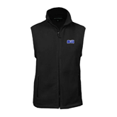 Fleece Full Zip Black Vest-OLLU