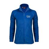 Ladies Fleece Full Zip Royal Jacket-The Woodlands