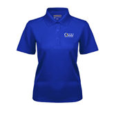 Ladies Royal Dry Mesh Polo-OLLU Our Lady of the Lake University Stacked