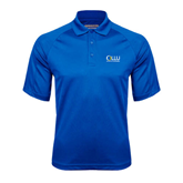 Royal Textured Saddle Shoulder Polo-OLLU Our Lady of the Lake University Stacked