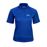 Ladies Royal Textured Saddle Shoulder Polo-OLLU Our Lady of the Lake University Stacked