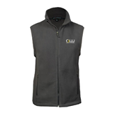 Fleece Full Zip Charcoal Vest-OLLU Our Lady of the Lake University Stacked