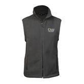 Fleece Full Zip Charcoal Vest-The Woodlands