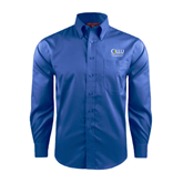 Red House French Blue Long Sleeve Shirt-The Woodlands