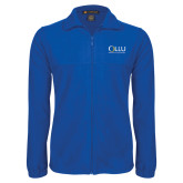 Fleece Full Zip Royal Jacket-OLLU Our Lady of the Lake University Stacked