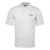 White Mini Stripe Polo-OLLU Our Lady of the Lake University Stacked