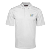 White Mini Stripe Polo-The Woodlands