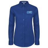 Ladies Royal Twill Button Down Long Sleeve-OLLU