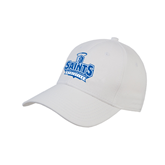 White Heavyweight Twill Pro Style Hat-Our Lady of the Lake University Athletics - Offical Logo
