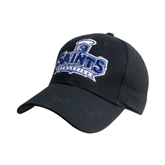 Black Heavyweight Twill Pro Style Hat-Our Lady of the Lake University Athletics - Offical Logo