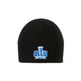 Black Knit Beanie-OLLU Saints