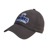 Charcoal Twill Unstructured Low Profile Hat-Our Lady of the Lake University Athletics - Offical Logo