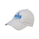 White Twill Unstructured Low Profile Hat-Our Lady of the Lake University Athletics - Offical Logo