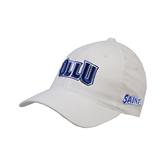 White Flexfit Structured Low Profile Hat-OLLU