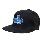 Black OttoFlex Flat Bill Pro Style Hat-Our Lady of the Lake University Athletics - Offical Logo
