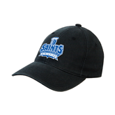 Black OttoFlex Unstructured Low Profile Hat-Our Lady of the Lake University Athletics - Offical Logo