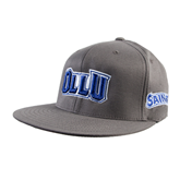 Charcoal Flexfit Flat Bill Pro Style Hat-OLLU