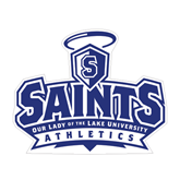 Medium Magnet-Our Lady of the Lake University Athletics - Offical Logo, 8 inches wide