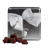 Decadent Chocolate Clusters Silver Medium Tin-S in Shield w/ Halo Engraved