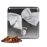 Deluxe Nut Medley Silver Medium Tin-S in Shield w/ Halo Engraved