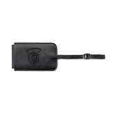 Fabrizio Black Luggage Tag-S in Shield w/ Halo Engraved