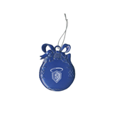 Royal Bulb Ornament-S in Shield w/ Halo Engraved