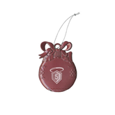 Pink Bulb Ornament-S in Shield w/ Halo Engraved