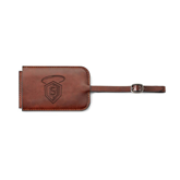 Fabrizio Brown Luggage Tag-S in Shield w/ Halo Engraved