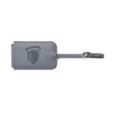 Fabrizio Grey Luggage Tag-S in Shield w/ Halo Engraved