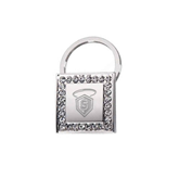 Crystal Studded Square Key Holder-S in Shield w/ Halo Engraved