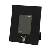 Black Metal 5 x 7 Photo Frame-S in Shield w/ Halo Engraved