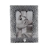 Silver Textured 4 x 6 Photo Frame-S in Shield w/ Halo Engraved